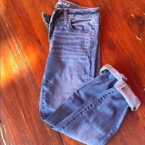 American eagle roll up jeans sz 8 short